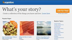 computer screenshot of squidoo.com homepage